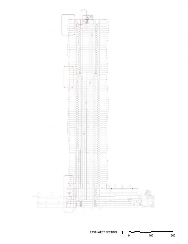 Башня Aqua © Studio Gang Architects