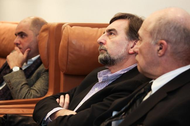 Григорий Ревзин, Сергей Скуратов и Андрей Боков. Фотографии предоставлены институтом «Стрелка»
