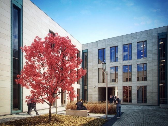 Бизнес-центр Bank side в Наставническом переулке. Проект © ADM architects