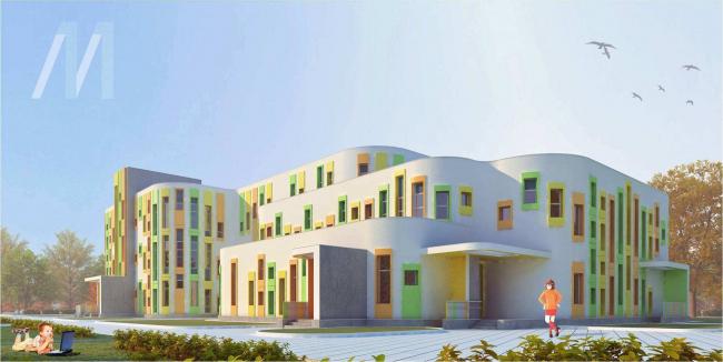 Индивидуальный проект ДОУ на 350 мест (16 групп) Дошкольное образовательное учреждение на 220 мест, ул. Перовская, вл. 66, корпус 11