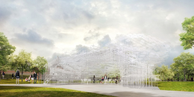 Летний павильон галереи Серпентайн 2013 © Sou Fujimoto Architects