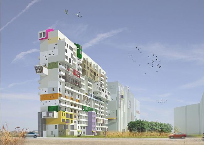 С. Копейкина. Проект «Интервенции», трансформация панельного жилья в Ново-Переделкино. Студия Е. Асса