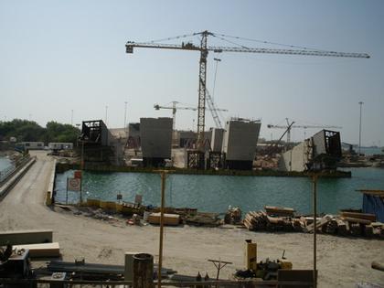 Мост Шейха Зайеда. Фото в процессе строительства