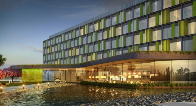 Гостиница Hilton Garden Inn. Ресторан. Проект, 2012 © ADM