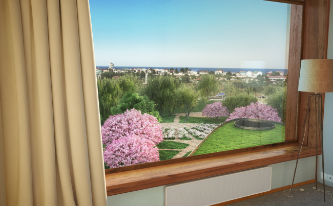 Гостиница Hilton Garden Inn. Вид из номера. Проект, 2012 © ADM
