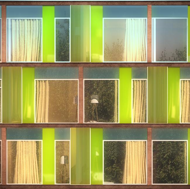 Гостиница Hilton Garden Inn. Фрагмент фасада. Проект, 2012 © ADM