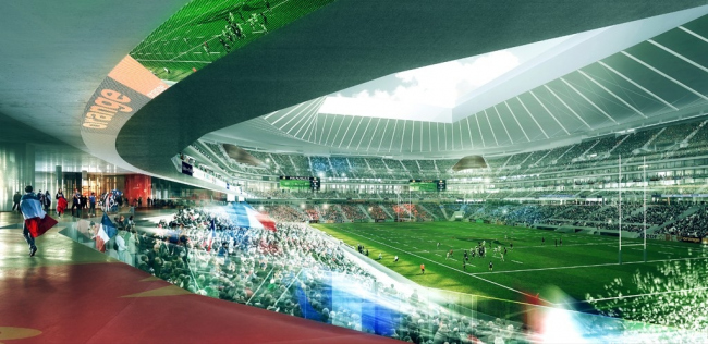 Регбийный стадион Grand Stade FFR © Populous