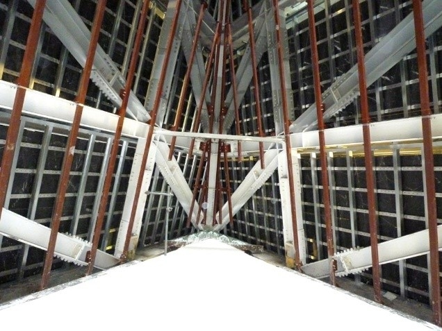 Гостиница Me London Hotel в процессе строительства. Атриум. Фото с сайта bdonline.co.uk