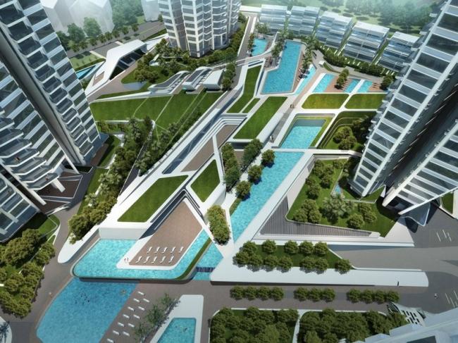 Жилой комплекс d'Leedon Singapore © Zaha Hadid Architects