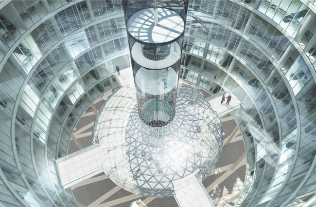 Административный и общественно-деловой комплекс «Невская ратуша». Атриум