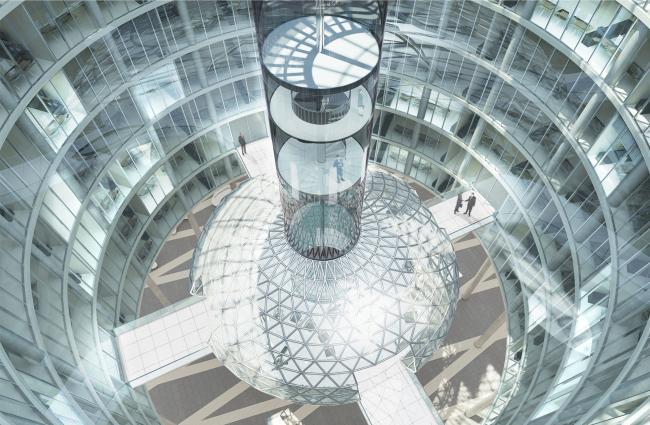 Административный и общественно-деловой комплекс «Невская ратуша». Атриум. Проект, 2007 © Евгений Герасимов и партнеры
