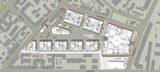 Административный и общественно-деловой комплекс «Невская ратуша». Ситуационный план