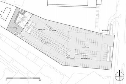 Театр на Таганке - Новая сцена. Проект.  План уровня -3.  © Willen Associates Architecten