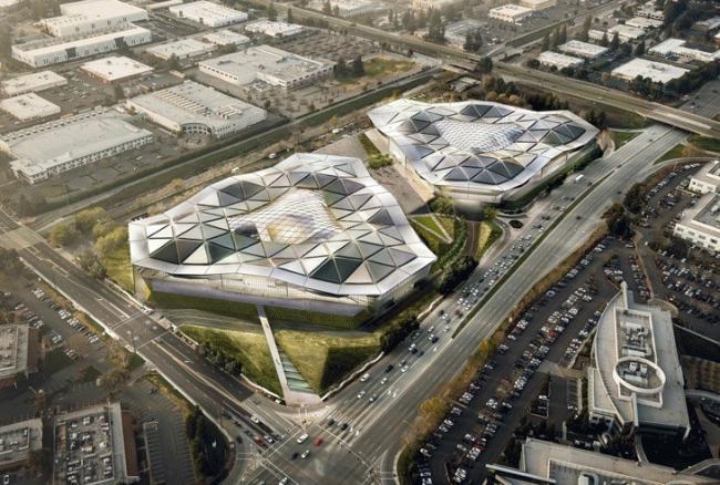 Штаб-квартира компании NVIDIA © Gensler and Kilograph