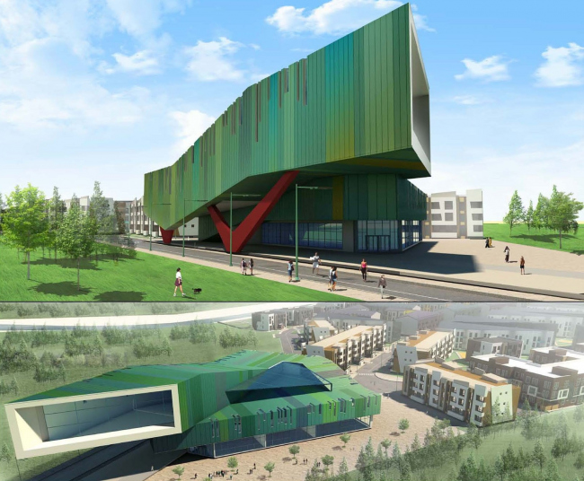 """""""Andersen"""" residential complex. Project of the community center © Arkhitekturium"""