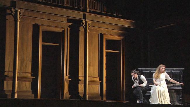 Lohengrin, Scala 2012 Barenboim, Kaufmann, Pape, фото из телетрансляции.