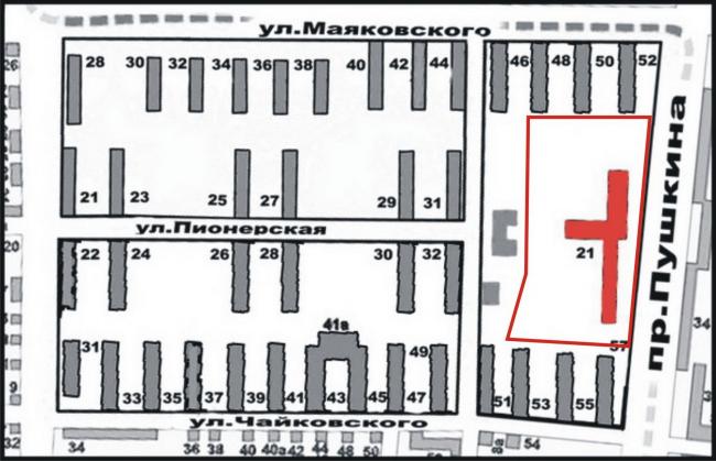 Схема планировки квартала. Предоставлено автором