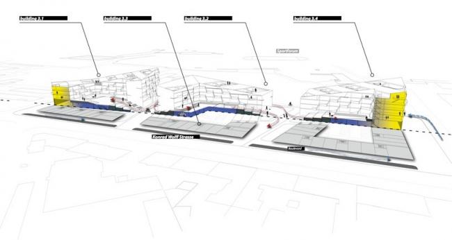 Многофункциональный комплекс SQUARE3 © Moritz Gruppe / LAVA