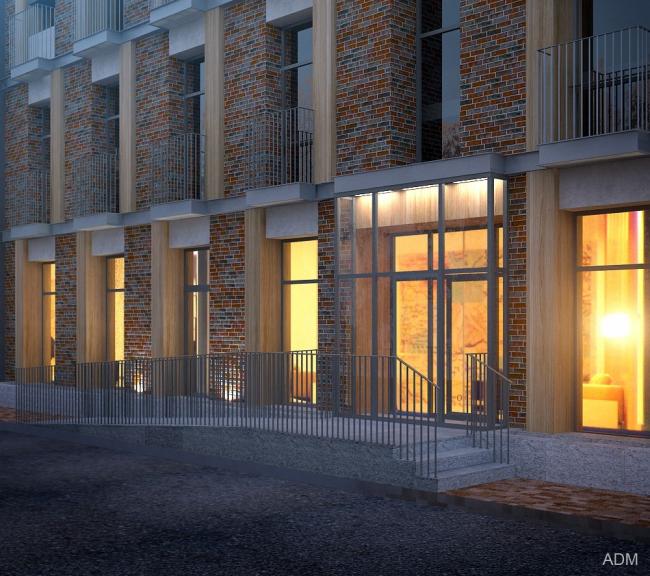 Реновация здания на улице Берзарина. Изображение © Мастерская ADM