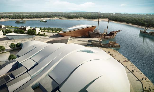 Музей рыбацкой культуры, за ним - Музей старинных рыболовецких судов. Предоставлено OAC