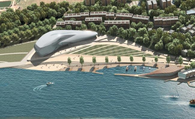 Музей океанского рыболовства и Международный центр конференций и культурного обмена. Предоставлено OAC