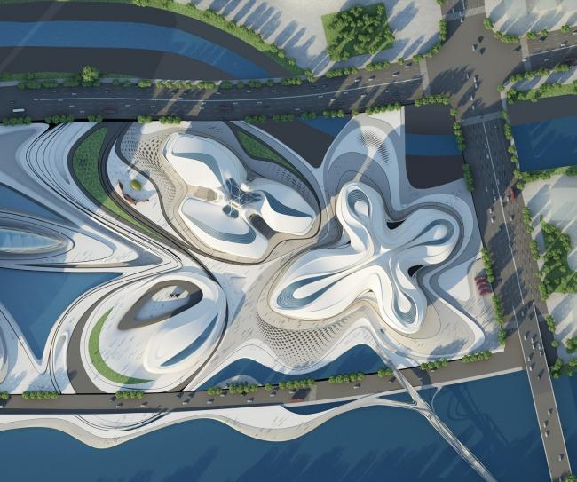 Международный центр культуры и искусства Чанша Мэйсиху © Zaha Hadid Architects
