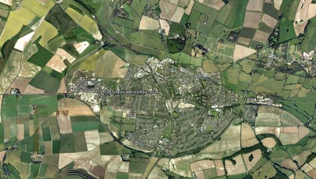 Дорчестер. Паундбери находится в западной части города. Источник: Google maps