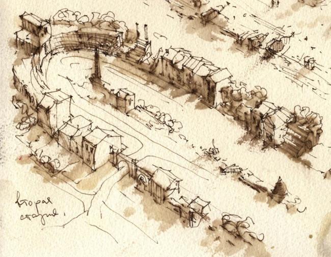 Ивакино-Покровское. Рисунок Максима Атаянца
