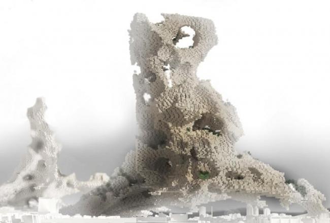 Второе место. Phobia Skyscraper. Авторы: Darius Maïkoff, Elodie Godo (Франция). Источник: www.evolo.us