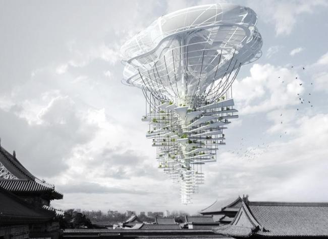 Третье место. Небоскреб Light Park. Авторы: Ting Xu, Yiming Chen (Китай). Источник: www.evolo.us