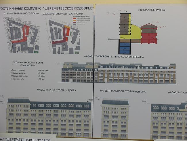 Проект реставрации и регенерации зданий под гостиничный комплекс «Шереметьевское подворье» на Никольской ул.