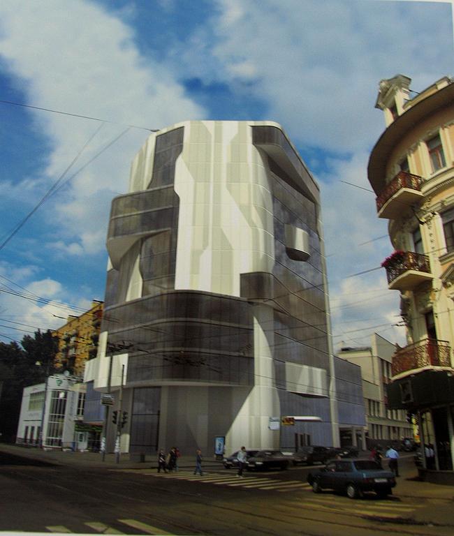 Предпроект офисного здания на Бакунинской ул., 1-3. Принятый вариант.
