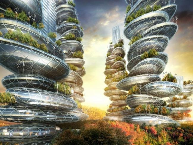 Многофункциональный комплекс Asian Cairns © Vincent Callebaut Architectures
