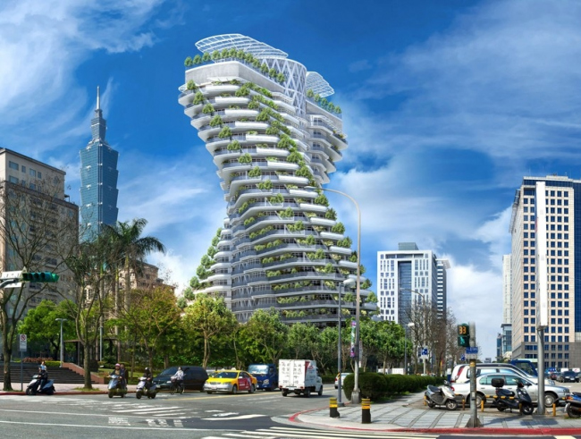 Жилой комплекс Agora Tower © Vincent Callebaut Architectures