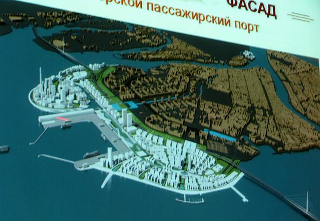Проект делового, жилого и общественного центра в Санкт-Петербурге «Морской фасад»
