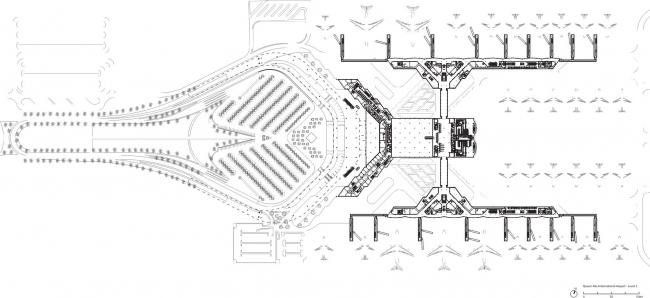 Международный аэропорт им. Королевы Алии © Foster + Partners