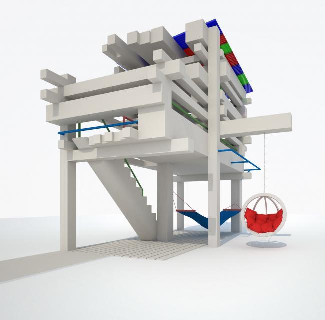 Гран-при. «Детский домик на дереве», архитектурное бюро «АИ студия». Проект. Изображение: st-ai.ru
