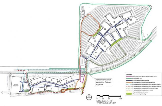 Западный кампус компании Facebook. Вариант 08/2012 © Frank Gehry / Gehry Partners