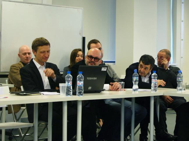 Никита Токарев, Оскар Мамлеев, Владимир Плоткин, Александр Бродский. Фотография Аллы Павликовой