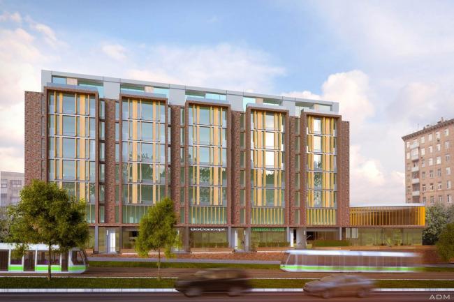 Реконструкция офисного здания на проспекте Мира. Проект, 2013 © ADM