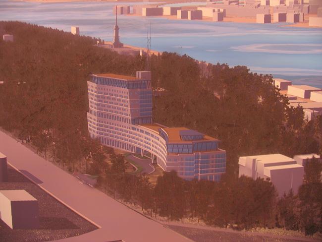 Проект гостинично-офисного центра на Ленинградском шоссе, 61. 2 вариант