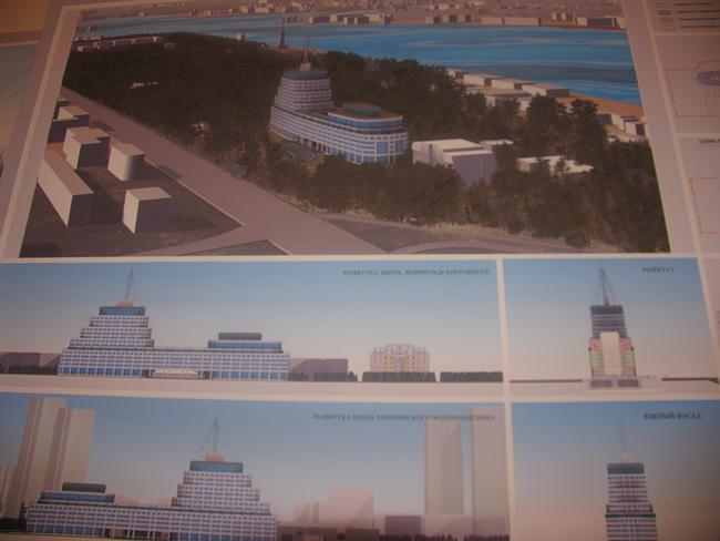 Проект гостинично-офисного центра на Ленинградском шоссе. 1 вариант