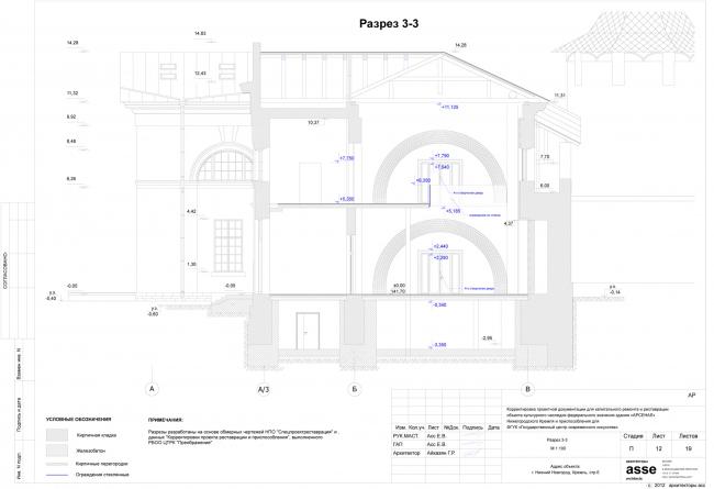 Разрез 3-3. Иллюстрация предоставлена бюро asse architects