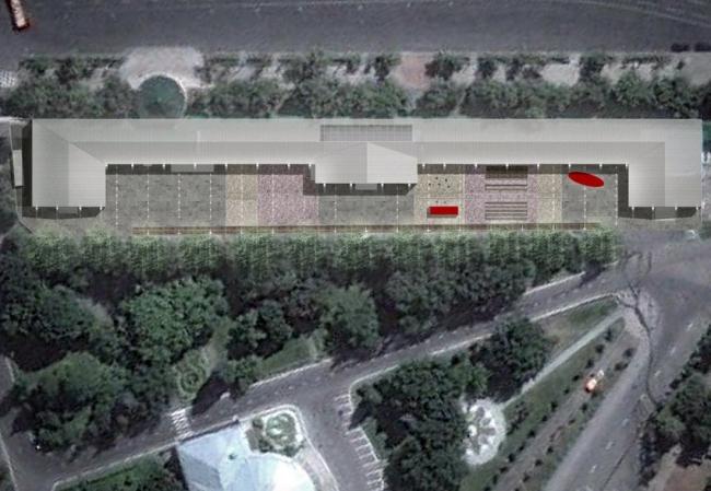 Филиал ГЦСИ в здании Арсенала в Нижнем Новгороде. Концепция организации двора © Архитекторы Асс
