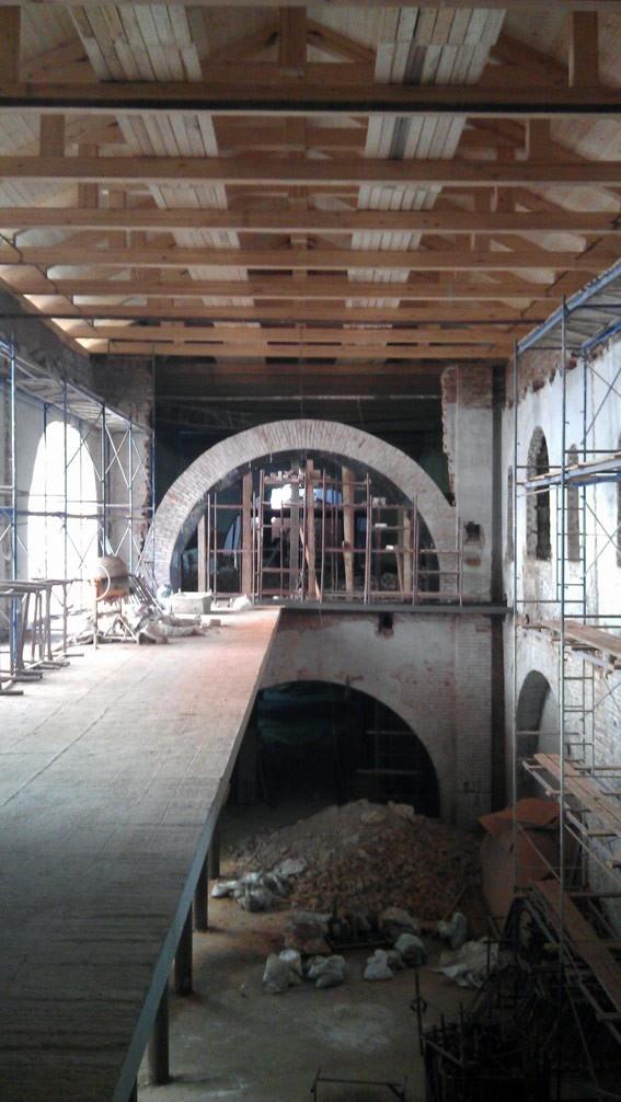 Строительство в центральном ризалите. Фотография бюро asse architects