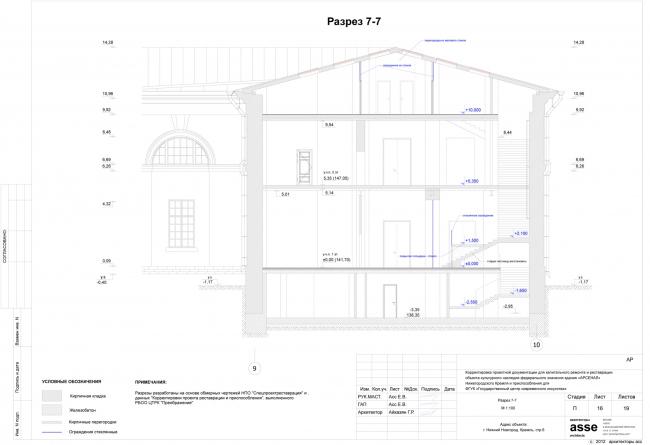Разрез 7-7. Иллюстрация предоставлена бюро asse architects
