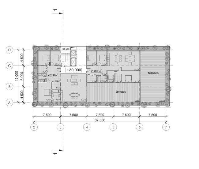 Апарт-отель «Сад». Конкурсный проект © Архитектурная мастерская Тотана Кузембаева