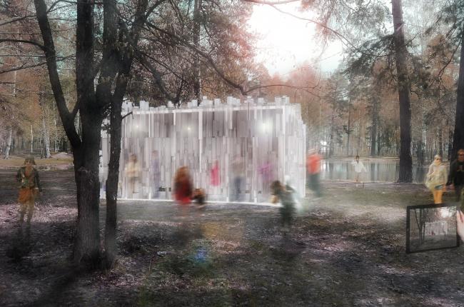 Проект Haptic Pavilion (На ощупь ). Изображение предоставлено организаторами конкурса.
