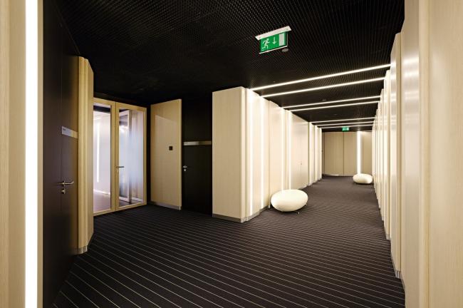 Интерьеры офисных помещений банка ВТБ в башне «Федерация»