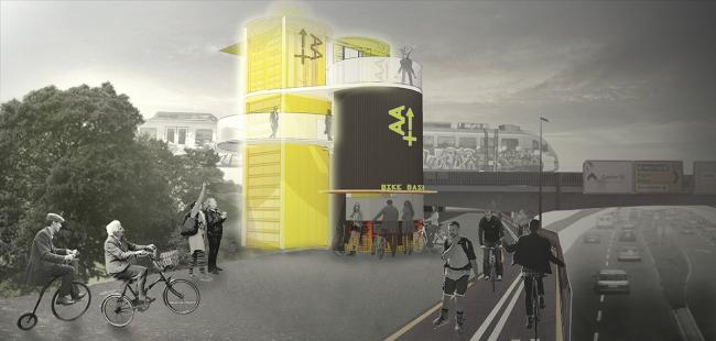 Специальная премия Akripol. Проект dNAMO. Авторы: Jose Bernal, Iuliia Fomina. Иллюстрация: www.trimo-urbancrash.com